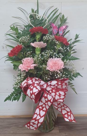 Gentle Blush Vase arrangement