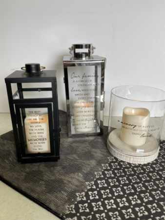 Memorial candles and lanterns Sympathy Gift