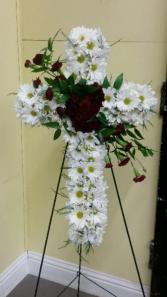 Memorial Daisy Cross Sympathy