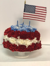 Memorial Day Calorie-Free Cake Flower Arrangement
