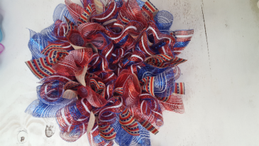 memorial day mesh wreath custom made CUSTOM MADE WREATHS