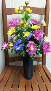 Memorial Day Silk Vase Arrangement