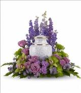 MEMORIAL   FLOWER URN SYMPATHY ARRANGEMENT in East Northport, NY | FLOWERS BY FRED