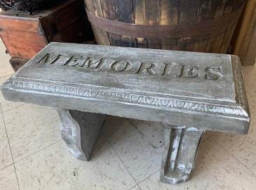 Memorial Garden Bench Bereavement Gift