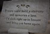 Memorial Garden Stones and Benches