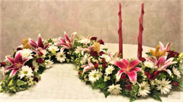Memorial garland memorial garland for cremation urn