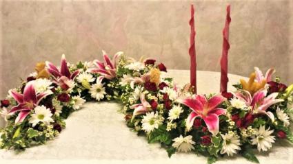 Memorial garland memorial garland for cremation urn
