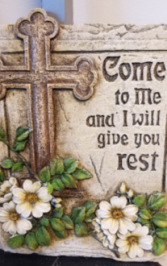 Memorial plaque- Come to me Add to any sympathy display
