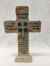 MEMORIAL STANDING CROSS Amazing Grace Cross