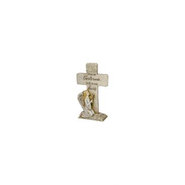 Memorial Standing Cross In God's Hands
