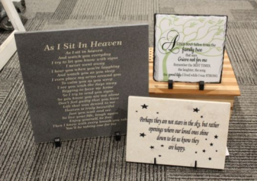 Memorial Tile Corian and Slate