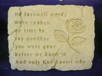 Memorial Stones Rememberance Sentiments