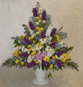 Memorial Urn of Mixed Flowers