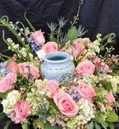 Memorial Urn Wreath Cremation flower arr (urn not included)