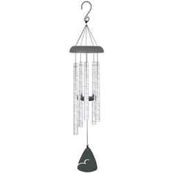 """""""Memories"""" 44"""" (L) Wind Chime On Stand with Bow"""
