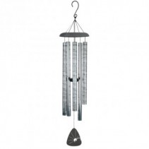 "MEMORIES 44"" WIND CHIMES ON CHIME STAND WITH BOW"