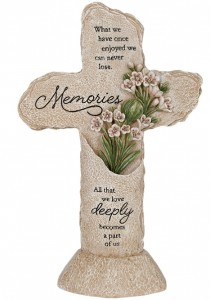 """Memories"" Heavenly Lights LED Pedestal Cross Item # 15132"