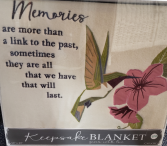 """MEMORIES"" Keepsake Blanket"
