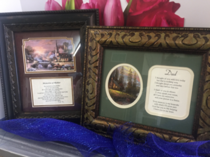 Memories Of Mom Or Dad Frame In Clarksville Tn Flowers By Tara