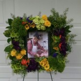 Memories Square Easel Wreath - AWF11B Arrangement