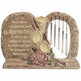 Memories Stone with Chimes Garden Collection