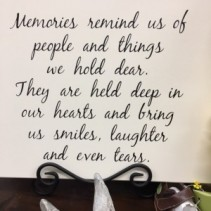 Memories Wooden Plaque Angel & Plaque