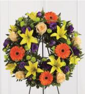 Memories wreath  Funeral Standing Wreath