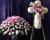 CUSTOM 2 PC. PINK FUNERAL PACKAGE NOW AVAILABLE TO THE PUBLIC!!