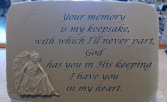 Memory a Keepsake  stepping stone