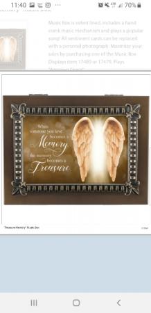 """Memory becomes a treasure"" music box"