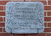 Memory-keepsake plaque