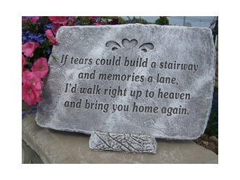 """Memory Lane 8"""" x 11"""" Memorial Stone"""