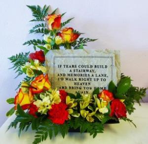 Memory Lane Plaque Memorial Garden Plaque Arrangement in Marshfield, MO | MARSHFIELD BLOOMS