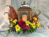 Memory Lantern  Memory lantern with fresh flowers