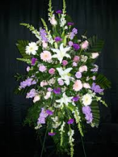 MEMORY LAVENDER SPRAY STANDING FUNERAL PC ON A 5'-6