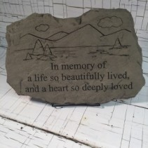 "Memory Stone - ""Beautifully Lived"" A non-traditional sentiment to show your sympathy"
