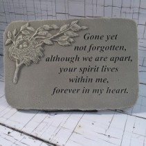 "Memory Stone - ""Gone yet not forgotten"" A non-traditional sentiment to show your sympathy"
