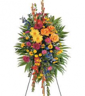 MEMORY VIBRANT SPRAY STANDING FUNERAL PC ON A 5'-6