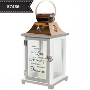"Memory~Lantern  13"" tall  Item # 57436 Indoor Lantern in Shipman, IL | B & B FLORAL -N- GIFTS"