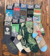 Men's Blue Q Socks