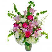 Sweet Romance Bouquet Vase arrangement