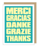 Merci Thanks Card