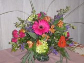 Mercury Color Burst floral centerpiece