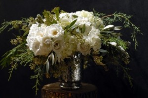Mercury Glass  Vase Arrangement in Toronto, ON | BOTANY FLORAL STUDIO