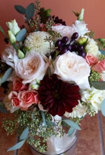 Merlot & Blush tones Bridal bouquet
