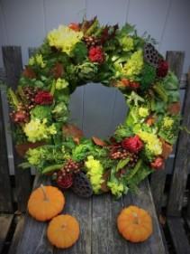 "Merlot Valley Magnolia Wreath 24"" Dried Wreath"
