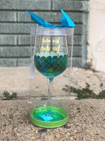 Mermaid Material Wine Glass