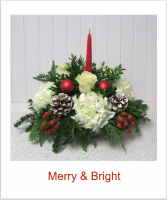 Merry and Bright Holiday Centerpiece