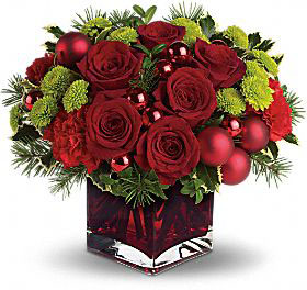 Merry and Bright Arrangement Modern Cube Arrangement