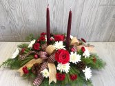 Merry and Bright Burgundy Centerpiece  Merry and Bright Burgundy Centerpiece